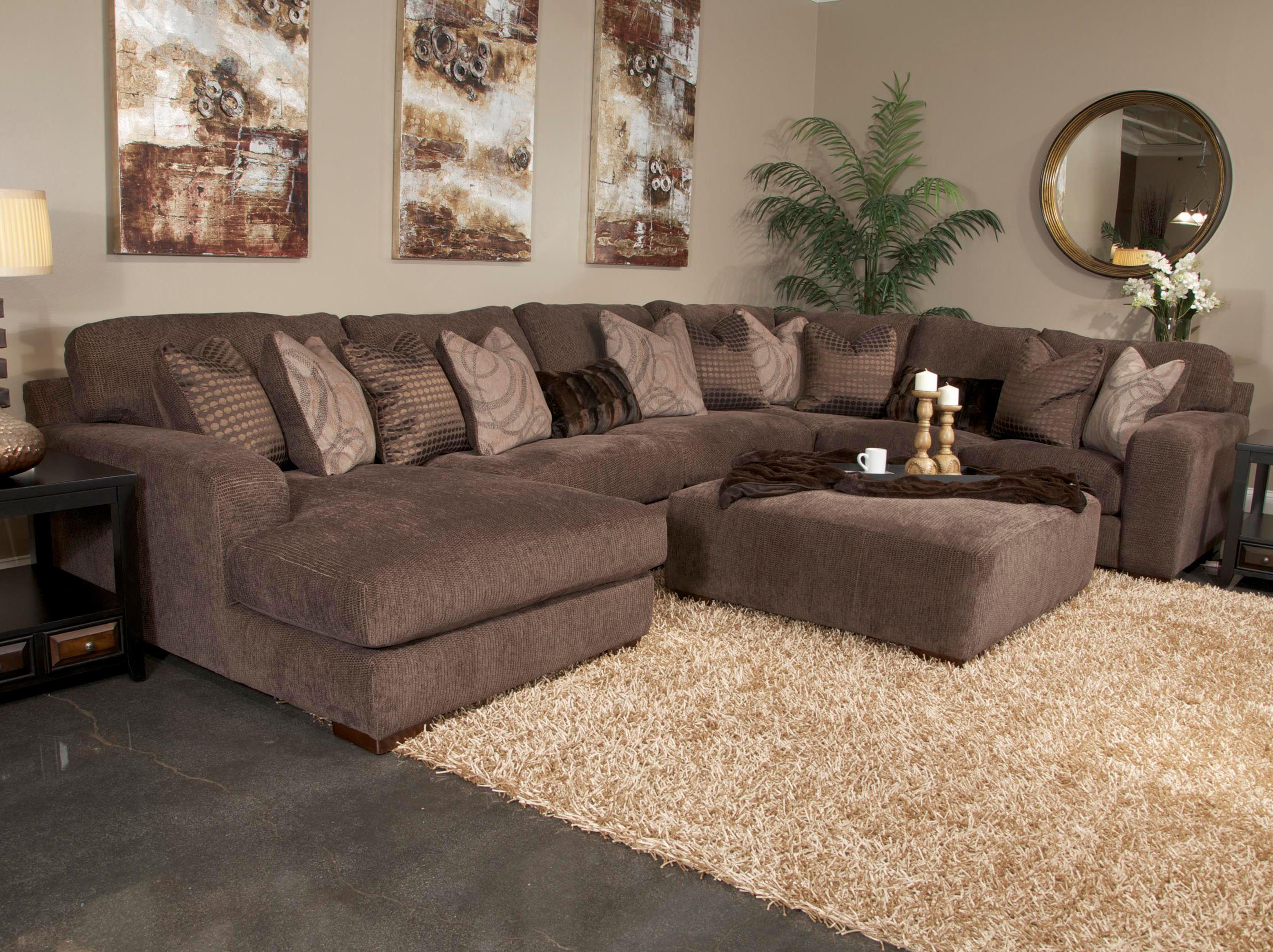 Jackson Furniture Serena Five Seat Sectional Sofa with Chaise on
