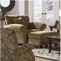 Jackson Furniture Suffolk  Smooth Upholstered Traditional Styled Ottoman - Shown with Coordinating Collection Chair