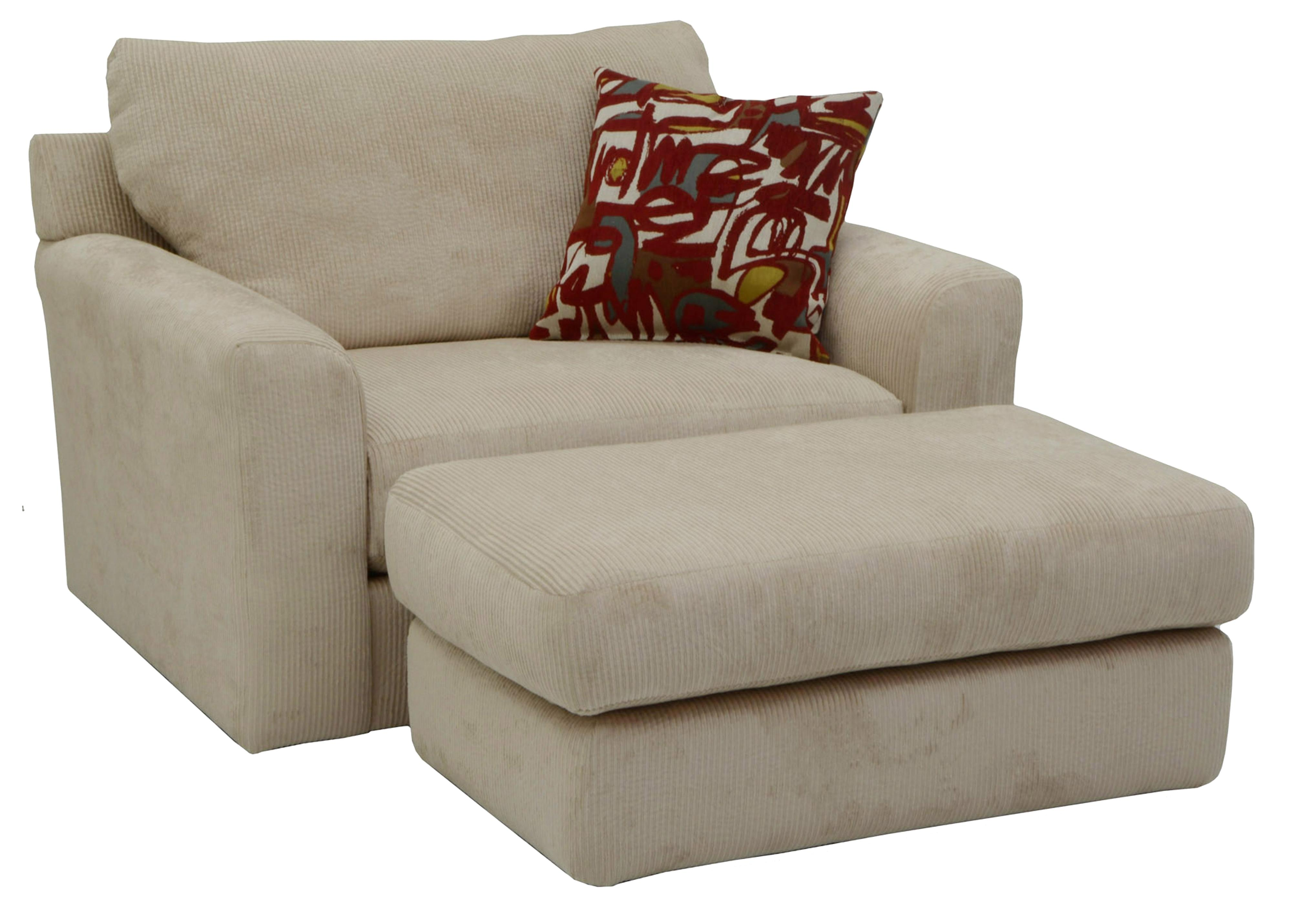 Jackson Furniture Sutton Chair and a Half and Ottoman with Casual