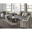Jackson Furniture Sutton  Chair and a Half with Casual Style - 3289-01-Cobblestone