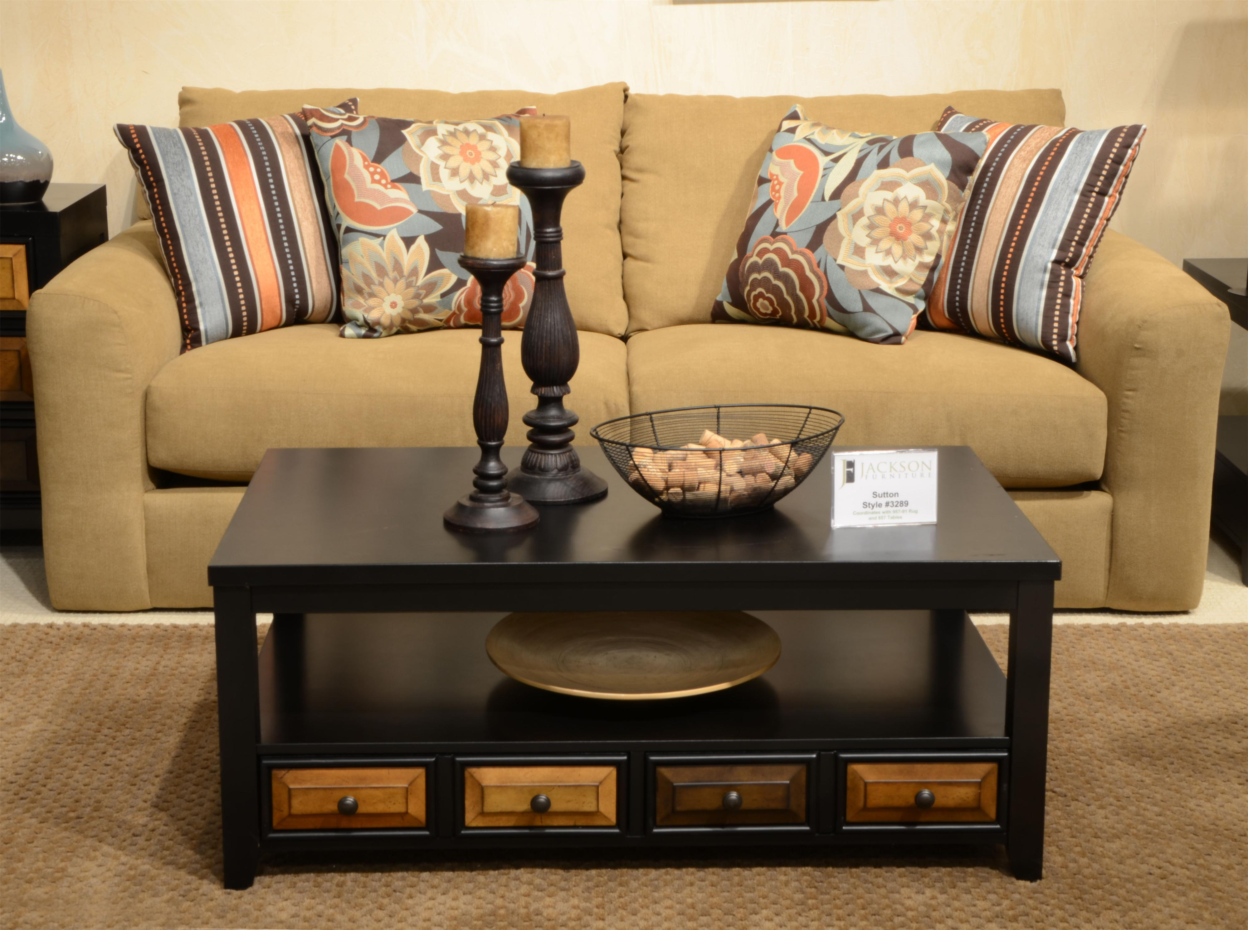 Jackson Furniture Sutton Sofa   Item Number: 3289 03 Treasure