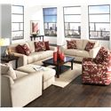 Jackson Furniture Sutton  Sleeper Sofa with Casual Style - 3289-04-Doe - Sofa Shown May Not Represent Exact Features Indicated