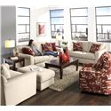 Jackson Furniture Sutton  Swivel Chair with Casual Style - 722-21-Red Print