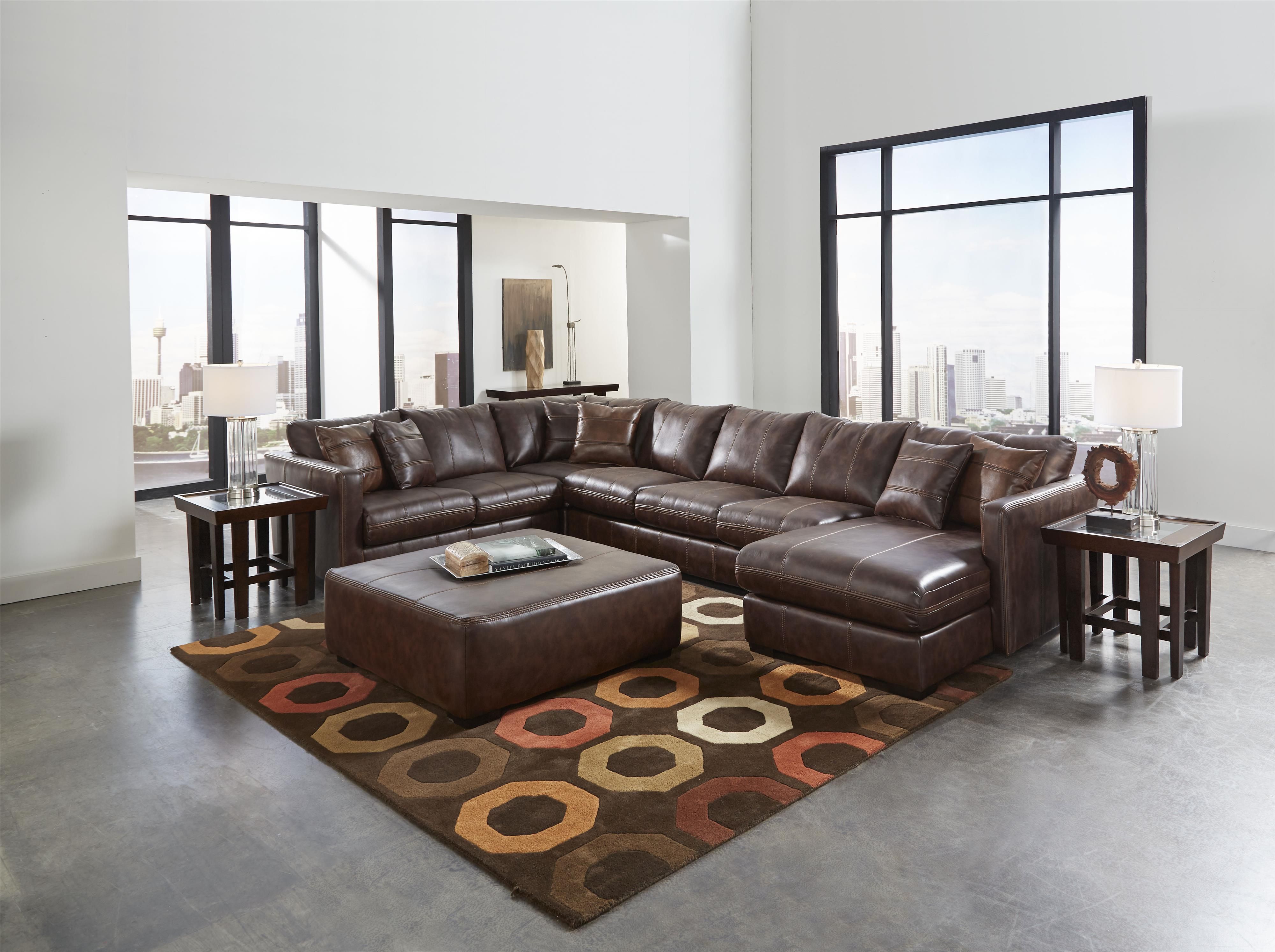 Jackson Furniture Tucker Sectional Sofa With Six Seats One Is A