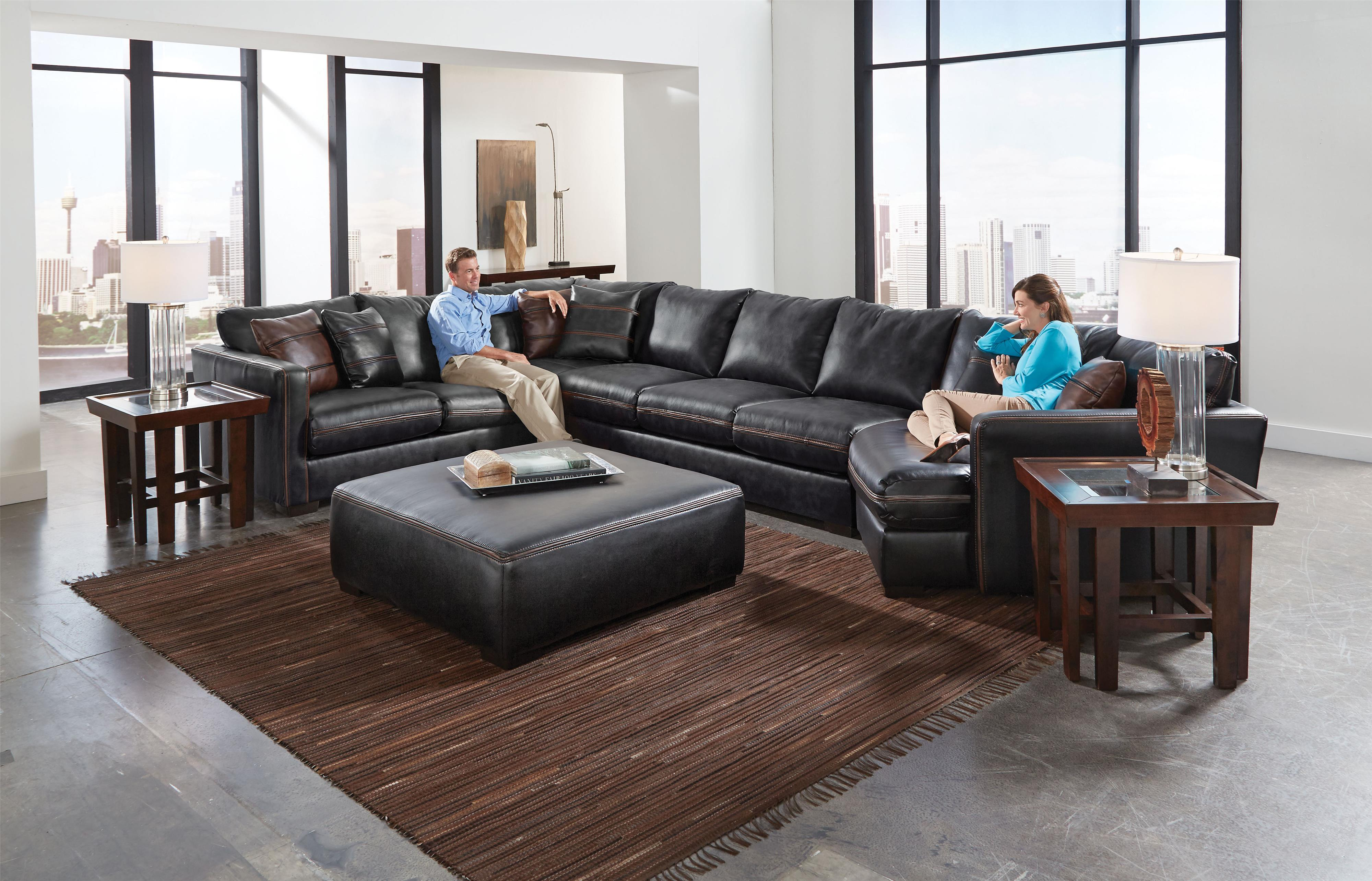 Jackson Furniture Tucker Sectional Sofa With Six Seats Wayside Furniture Sectional Sofas