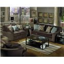 Jackson Furniture Whitney  Contemporary Sofa with Comfortable Appearance - Shown with Coordinating Collection Loveseat. Swivel Chair Shown Lower Left Corner.