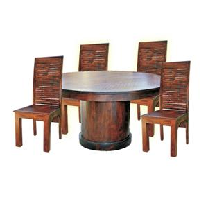 Jaipur Furniture Vienna Solid Wood Round Dining Table and Chairs