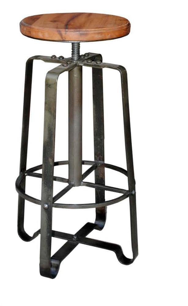 Morris Home Furnishings Morris Home Furnishings Comoros Iron Adjustable Stool - Item Number: ACC-107