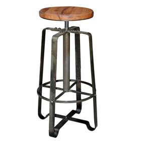 Morris Home Furnishings Morris Home Furnishings Comoros Iron Adjustable Stool
