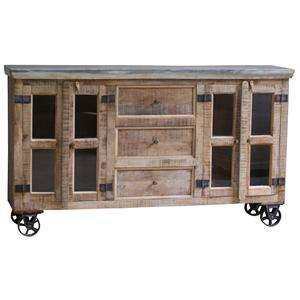 Morris Home Furnishings Morris Home Furnishings Copenhagen Sideboard with wheels