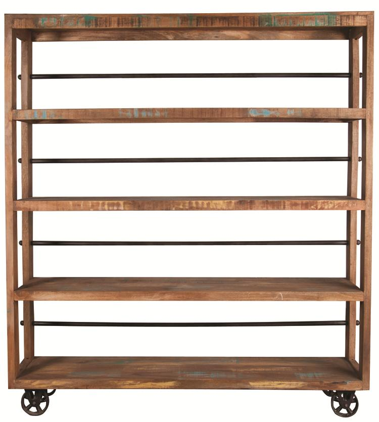 "Morris Home Furnishings Morris Home Furnishings Namibia 72"" Wheeled Bookcase - Item Number: GURU-999001"