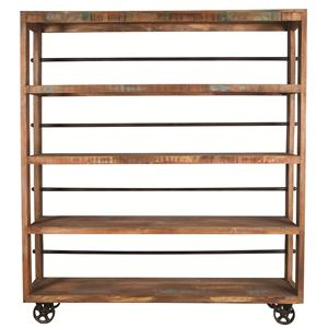 "Morris Home Furnishings Morris Home Furnishings Namibia 72"" Wheeled Bookcase"