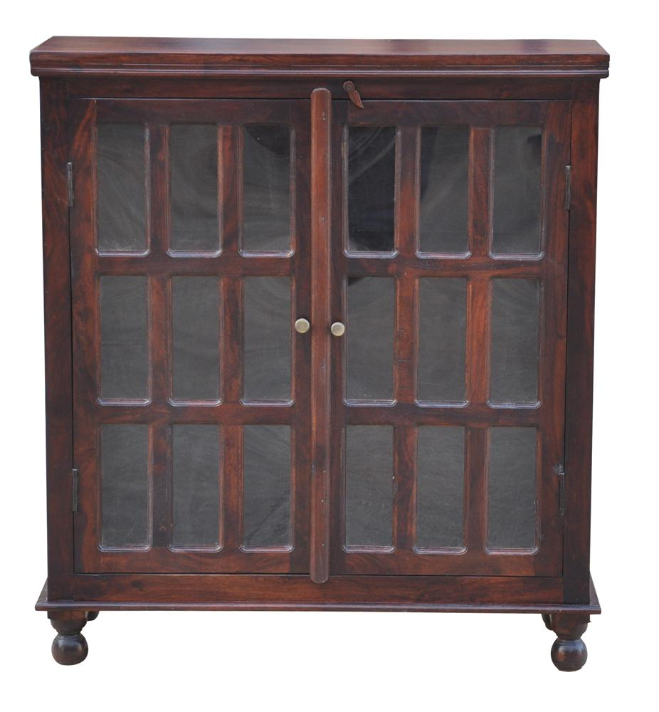 Morris Home Furnishings Brazil Bolivia Glass Door Cabinet - Item Number: ISA-1083N