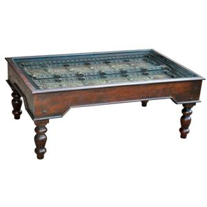 Castle Traditional Old Door Coffee Table by Jaipur Furniture