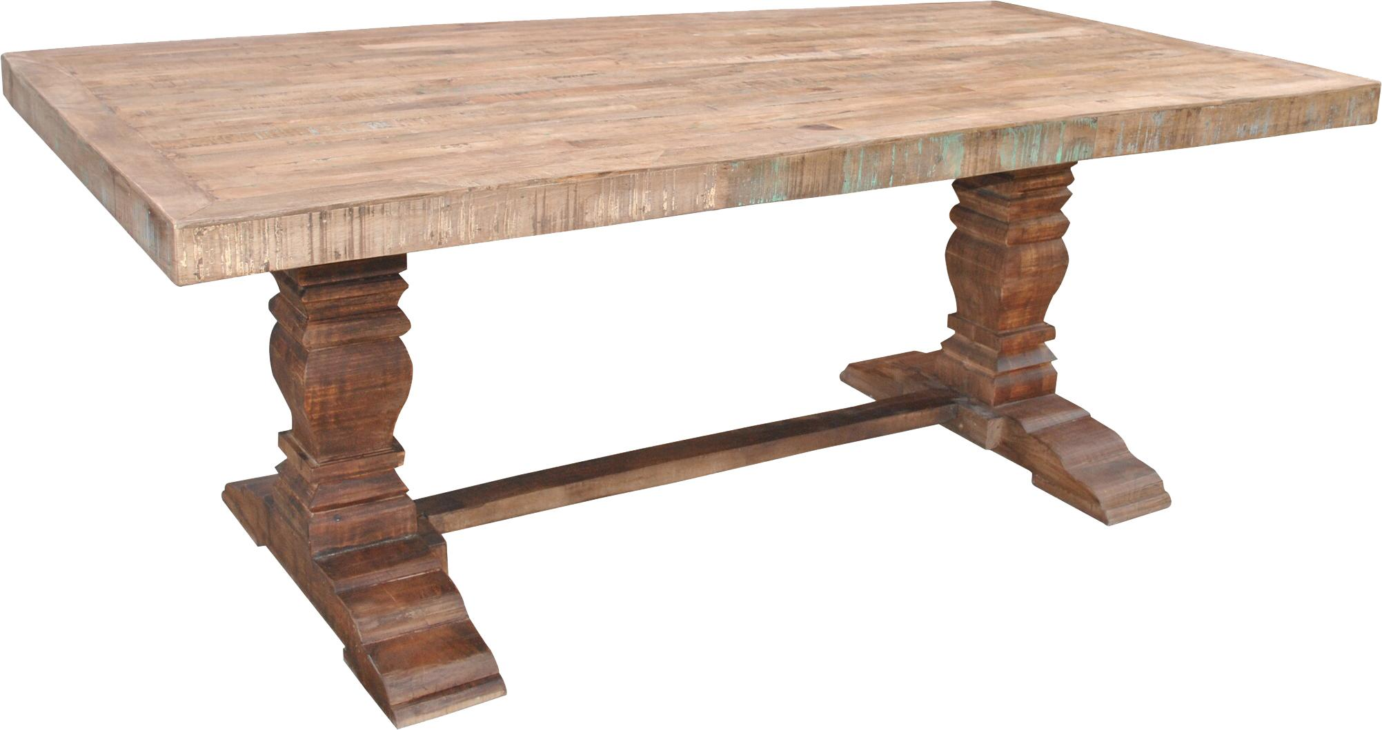 Jaipur Furniture Guru Vintage Pedestal Dining Table FMG Local