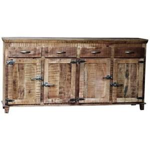 Warehouse M Icebox Reclaimed 4 Drawer/4 Door Sideboard