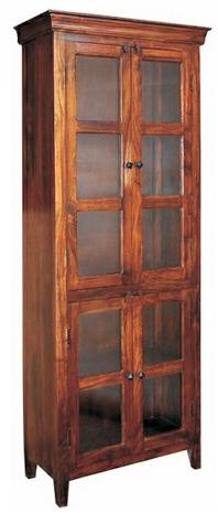 Jaipur Furniture Monsoon Glass Cabinet - Item Number: ISA-1119