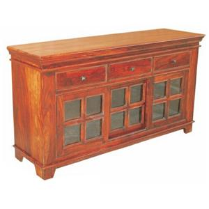 Jaipur Furniture Monsoon Glass Sliding Sideboard