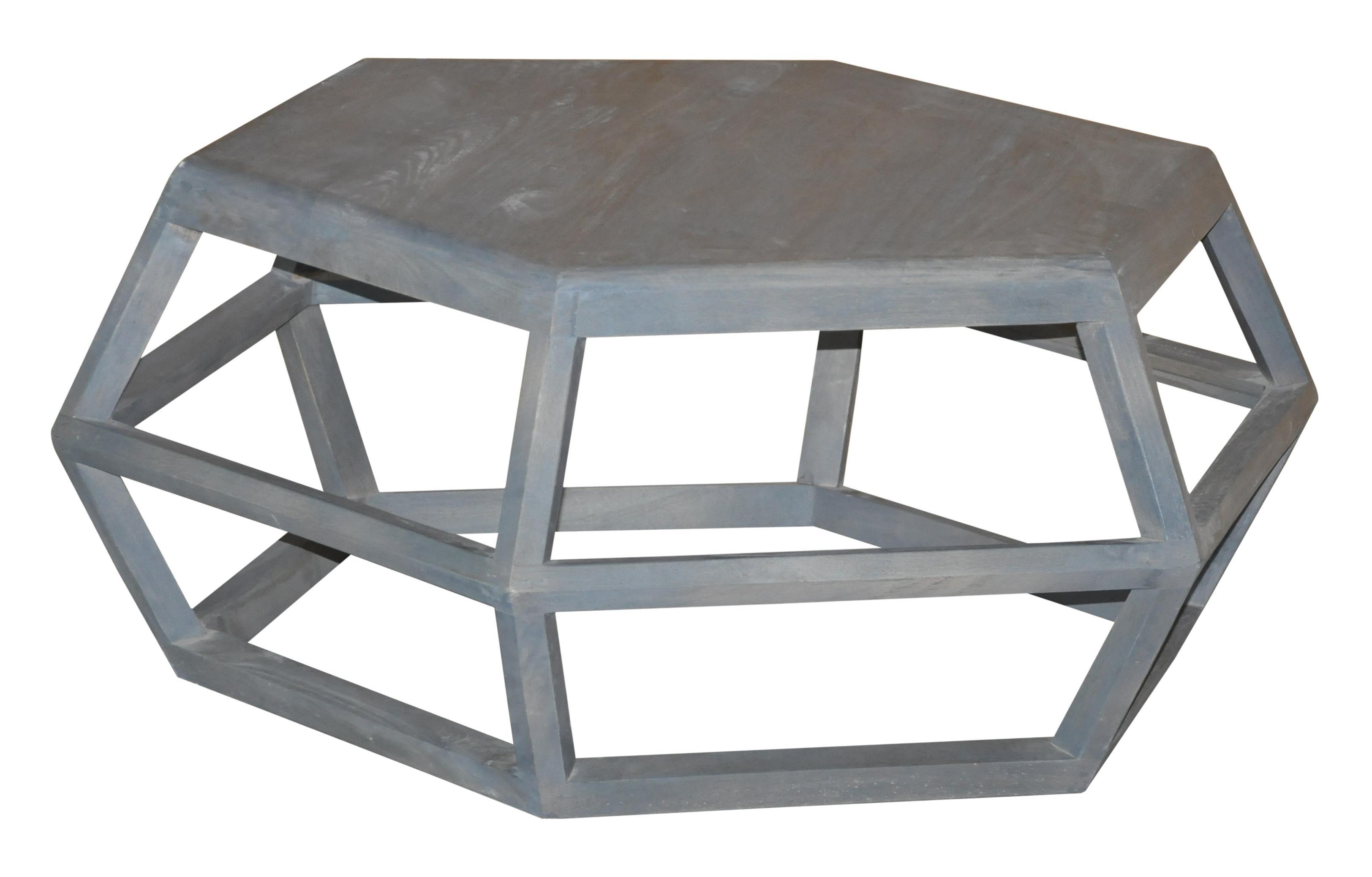 Jaipur furniture neemrana geometric coffee table with modern industrial style