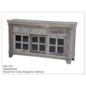 Morris Home Furnishings Morris Home Furnishings Lebanon Natural Grey Sliding Door Sideboard
