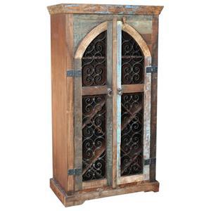 Jaipur Furniture Railroad Ties Wine Cabinet