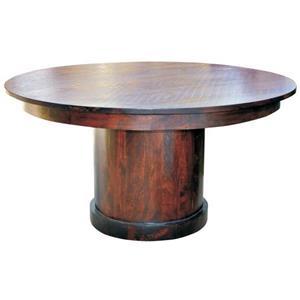 "Jaipur Furniture Vienna 60"" Round Solid Sheeshame Wood Dining Table"