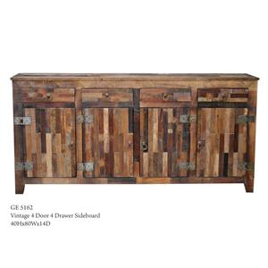 Warehouse M Vintage 4-Door 4-Drawer Sideboard