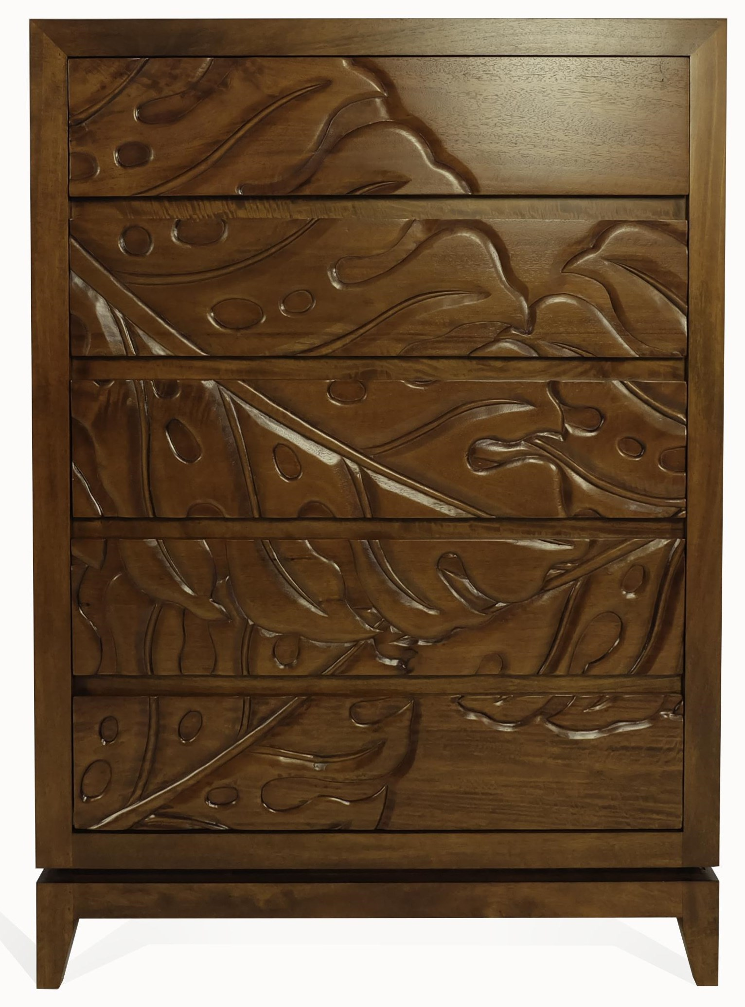 Monstera 5 Drawer Chest by Jamieson Import Services, Inc. at HomeWorld Furniture