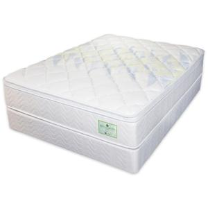 Jamison Bedding Wisteria California King Euro Top Mattress and Foundation