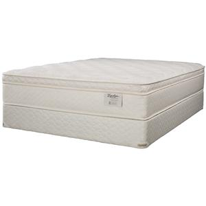 Jamison Bedding Equalizer Fantasia Queen Euro Pillow Top Mattress and Box Spring