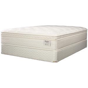 Jamison Bedding Equalizer Montclair King Euro Pillow Top Mattress and Box Spring