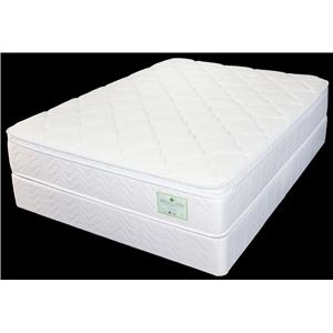 Jamison Bedding Sunflower Twin Euro Top Mattress and Foundation