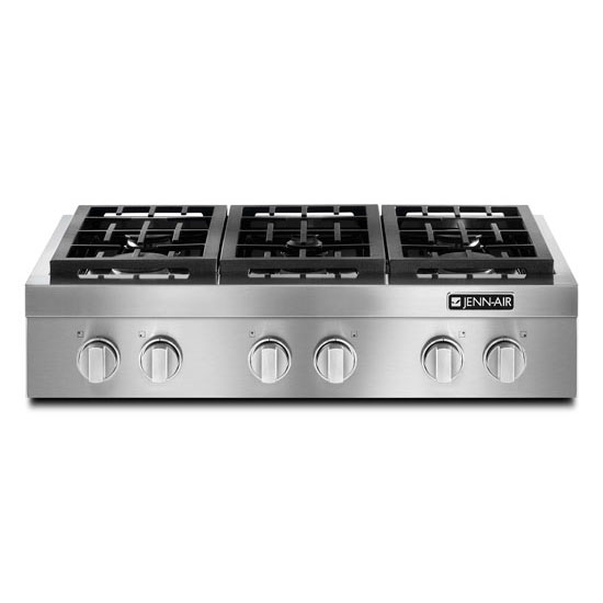 "Jenn-Air Cooktops - Gas 36"" Pro-Style® Gas Rangetop - Item Number: JGCP436WP"