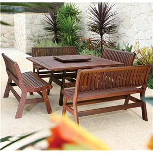 Beechworth 5 Piece Outdoor Table and Bench Set by Jensen Leisure