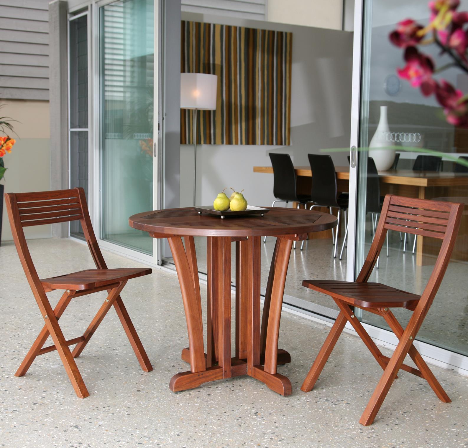 Jensen Leisure Gateleg Bistro Table And Pearl Folding Chairs Set Becker Furniture World