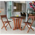 Jensen Leisure Gateleg 3 Piece Bistro Set - Item Number: 6435+2x6235