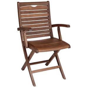 Topaz Folding Wood Arm Chair by Jensen Leisure
