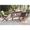Jensen Leisure Topaz Folding Wood Arm Chair - 6238 - Shown with Oval Table and Side Chair