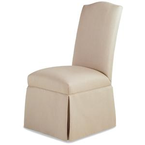 Petra Skirted Armless Chair