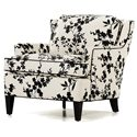 Jessica Charles Fine Upholstered Accents Kate Arm Chair with Track Arms
