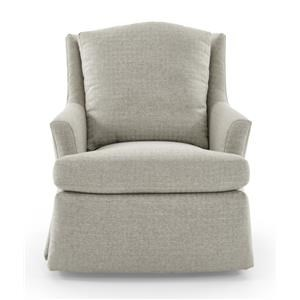 Jessica Charles Fine Upholstered Accents Cagney Swivel Rocker