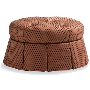 Jessica Charles Fine Upholstered Accents Round Ottoman