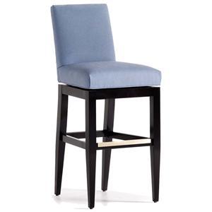 Jessica Charles Fine Upholstered Accents Mann Memory Swivel Upholstered Barstool