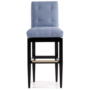 Mann Tufted Memory Swivel Barstool
