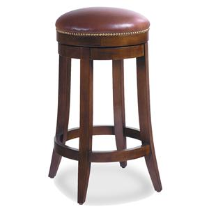 Jessica Charles Fine Upholstered Accents Charles Upholstered Barstool with Nailhead Trim