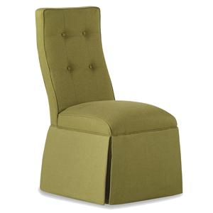 Baye Skirted Armless Chair