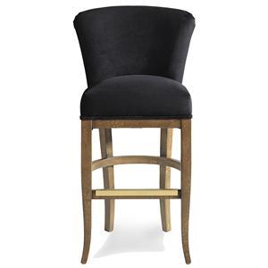 upholstered bar stools. Jessica Charles Fine Upholstered Accents Cameron Memory Swivel Barstool Bar Stools