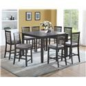 JGW Furniture Barton Table with 8 Chairs - Item Number: US2742 + US2743x8