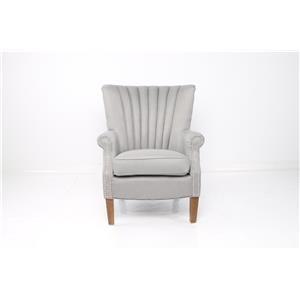 JGW Furniture Accents Grey Linen Accent Chair