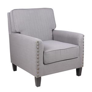 JGW Furniture Accents Sachi Pewter Accent Chair